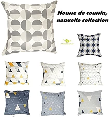 HOUSSE DE COUSSIN UNI 40x40cm  Coloris au choix