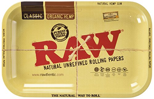 Raw Metal Rolling Tray Small 11 x 7 Inch