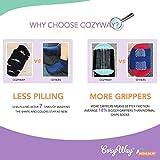 CozyWay Toddler Non Slip Crew Socks 12 Pairs for