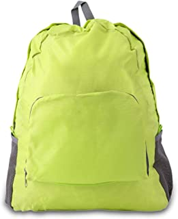 Sairis Portable Mode Hommes Femmes Zipper Soild Nylon Sac à Dos Sac de randonnée Sac de Voyage Camping Sac à Dos Sports Pack (Vert)