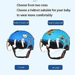 YAUUYA Casque De Moto pour Enfants pour Enfants Cycle De Vélo Demi-Casque VTT Vélo Vélo Planche à roulettes Scooter Hoverboard Casque pour L'équitation Sécurité Léger,G-S=45~52cm