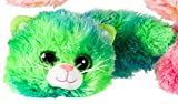 Cookie Cat Green Soft Plush Toy Kids Stuffed Cuddly Snuggle Fluffy Children Cute
