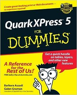 Quarkxpress5 for Dummies by Barbara Assadi (2002-03-01)