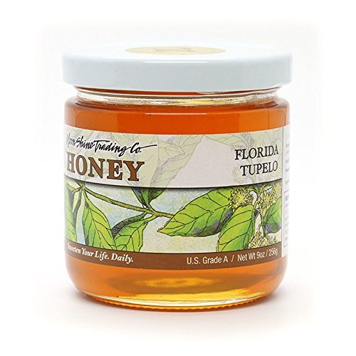 Moon Shine Trading Gourmet Florida White Tupelo Local Honey – RAW UNPROCESSED UNPASTEURIZED UNFILTERED 100% PURE & NATURAL HONEY, 16 Ounces