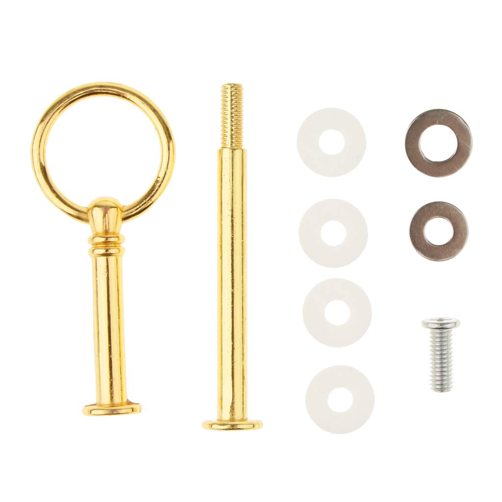 LOVIVER 1Set Metal 2 Tier Party Wedding Cupcake Fruit Heavy Plate Stand Centre Handle Fittings Round Drill Round Hardware Rod - Gold by LOVIVER (Image #3)