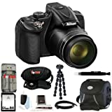 Nikon COOLPIX P600 Digital Camera (Black) + 64GB Memory Card + Additional EN-EL23 Battery and Charger + Small Gadget Camera Bag + All in One High Speed Card Reader + Accessory Kit