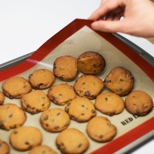 RedLantana Nonstick Silicone Baking Mat - Set of 2 - Half Sheet Pan Size