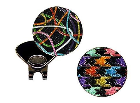Loudmouth Scribblez and Black Razzle Dazzle Glitzy Ball Marker Combo with ONE Magnetic Hat Clip (Razzle Dazzle Glitter)