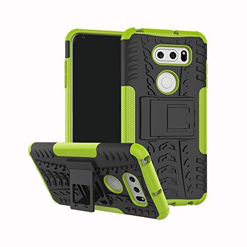LG V30 Case, UZER Shockproof Hybrid Slim Dual Layer Rugged Rubber Hybrid Hard/Soft Impact Armor Defender Full Body Protective Case Cover with Kickstand for LG V30/ V30 Plus /V30S 2017