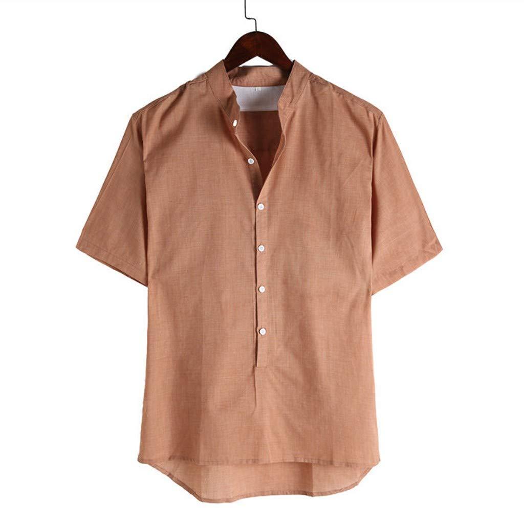 Amazon.com: iLXHD - Camisetas para hombre, de lino y algodón ...