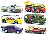 King Featured Syndicate Comics Hot Wheels Nostalgia Set 2013 Popeye, Beetle Bailey, Flash Gordon, Felix the Cat, Hagar the Horrible Comic Strip Cars in PROTECTIVE CASES
