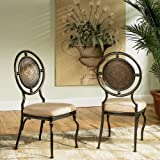 Powell Basil Antique Brown Dining Side Chair with 2-Piece in 1-Carton