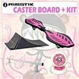 Razor Ripstik Pink Caster Board Skate Board w/ Deluxe Accessory Kit