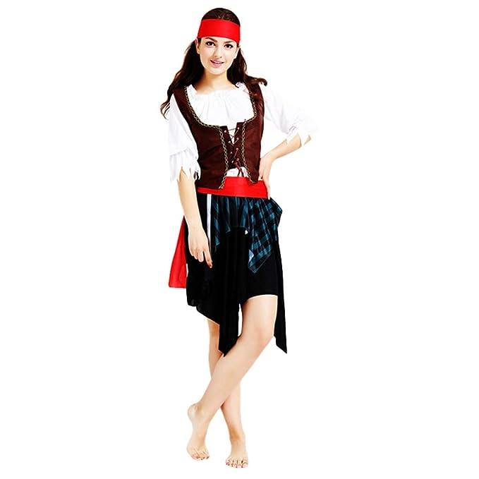 Jitong Halloween Costume Travestimenti da Pirata per Coppia Carnevale  Abbigliamento Divertente (Pirata  1efe70bafd49
