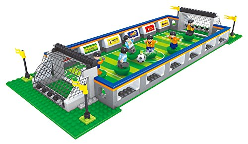 BRICK-LAND Sports Soccer Toy Soccer Stadium Includes Everything Your Kids Need for a Great Soccer Game ()