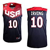FIBA 2014 Basketball World Cup USA Dream Team #10 Kyrie Irving Black Jersey Medium