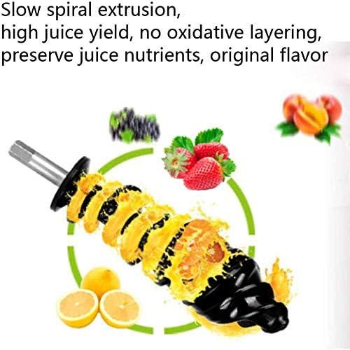 Horizontal Einzel Auger Langsam Masticating Entsafter Hohe Nährstoff Obst- Durable Mit & Motor Reverse-Funktion Anti-Oxidation Juicer Quiet Gemüsesaft
