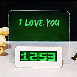 Ieasycan LED Backlight Digital Alarm Clock Message Board Table Clock Watch Snooze Led Clock reloj despertador with Highlighter Home Decor