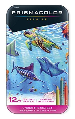 Prismacolor Premier Colored Pencils, Soft Core, Under the Sea Set, 12 -
