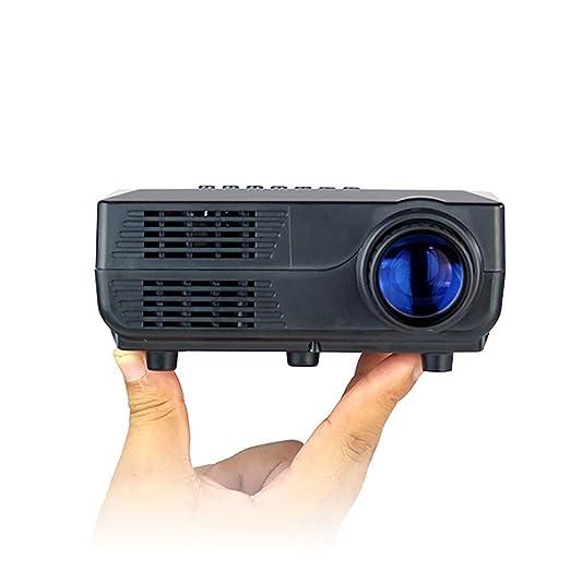 QinLL Proyector portátil, Mini 1080P Apoyo LED proyector de vídeo ...