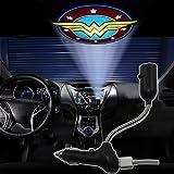 Spoya Wonder Women USB Car dome ceiling CREE LED cigarette lighter logo laser projector light lamp