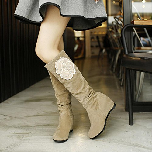 Hi Non Dunk Thick Warm Sky BEIGE Leisure bottom Comfortable NVXIE Fall Big Flowers Scrub Women Khaki Black slip Keep Flat EUR39UK665 Outdoor Boots Snow Nike Winter xS0qOZX