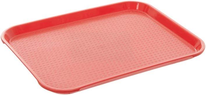 Fast Food Tray 10 x 14 Orange Rectangular Polypropylene Serving Tray for Cafeteria, Diner, Restaurant, Food Courts