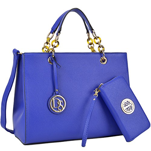 Wholesale Designer Handbag - Womens Large Top Handle Handbag Structured Tote Bag Designer Shoulder Bag w/Matching Wallet