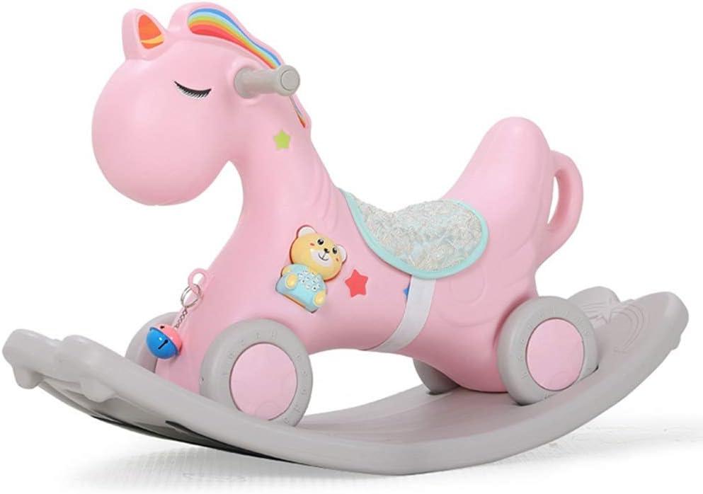 De los niños del caballo de oscilación Caballo de oscilación de la roca y la silla del paseo de niño del bebé Parvulario linda segura del caballo de oscilación con vehículo infantil caballo Silla de o