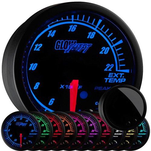 Exhaust Temperature Egt Gauge - GlowShift Elite 10 Color 2200 F Exhaust Gas Temperature Gauge