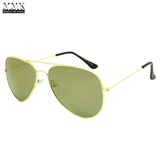 500f8e6752d6e Image Unavailable. Image not available for. Color  MMK collection Fashion  Aviator Style Sunglasses~Designer Sunglasses~Classic Sunglasses~2017 In  Trend