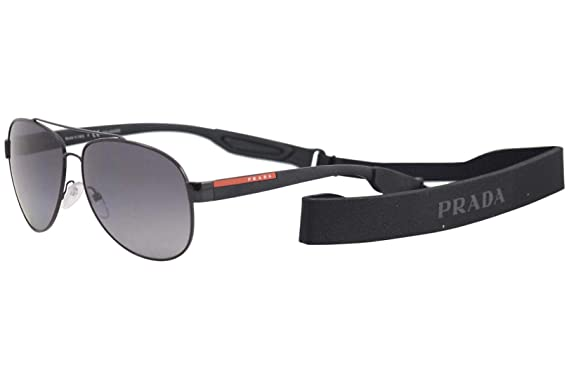 09c021aba2d0a Image Unavailable. Image not available for. Color  Prada PS55QS Sunglasses  1AB5W1-62 - Black Frame