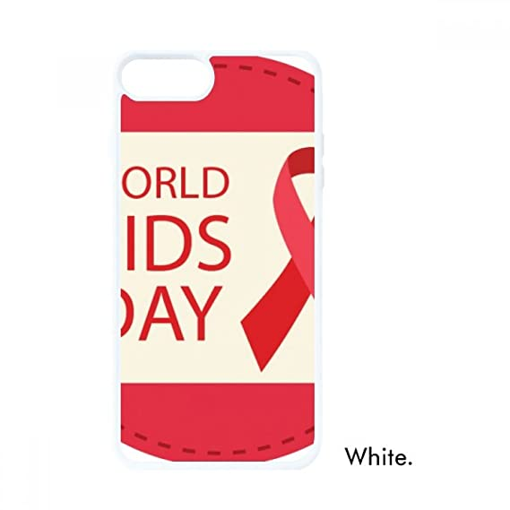 World AIDS Day 1st December Red Ribbon HIV For iPhone 7/8 Cases White  Phonecase