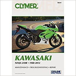 1988-2012 CLYMER KAWASAKI MOTORCYCLE NINJA 250R SERVICE ...