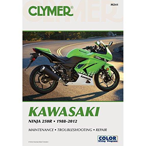1988-2012 CLYMER KAWASAKI MOTORCYCLE NINJA 250R SERVICE MANUAL NEW M241