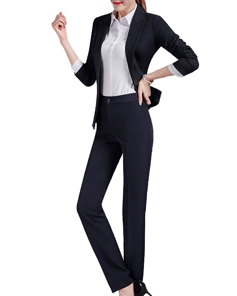 Women 3 Pieces Office Lady Blazer Suit Slim Fit Business Set for Work Skirt and Jacket