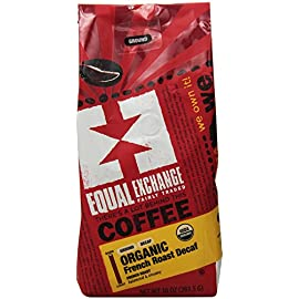 Equal Exchange Organic Ground, French Roast Malted Chocolate, 10 Ounce 1 Contains 1 bag, 10 oz per bag (10 oz) Bold Dark Decaf French Roast Coffee Grounds Balanced with Creamy Malted Chocolate & a Bittrsweet Finish French Roast Blend