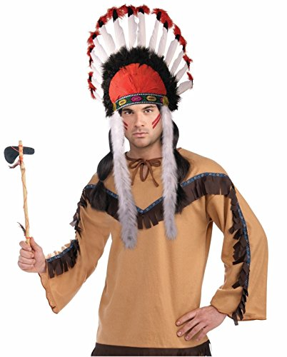 Chief Indian Headdress Costume (Native American Indian Chief Feather Headdress)