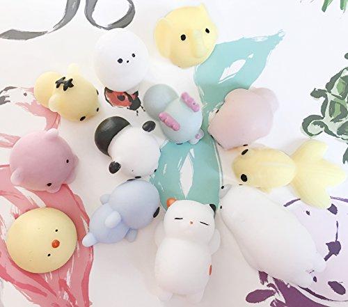 Alled Mochi Squishies Cute 12 Pcs Mini Squeeze Toys Soft
