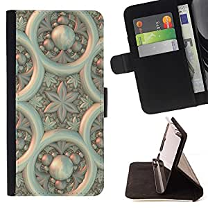Momo Phone Case / Flip Funda de Cuero Case Cover - Arte Dise?o Papel de pared Pared Arquitectura Flor - Huawei Ascend P8 (Not for P8 Lite)