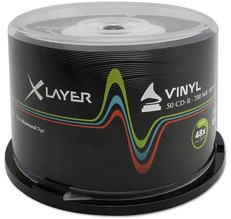 XLayer 102845 CD grabable - CD-R Virgen estilo Vinilo: Amazon.es: Electrónica