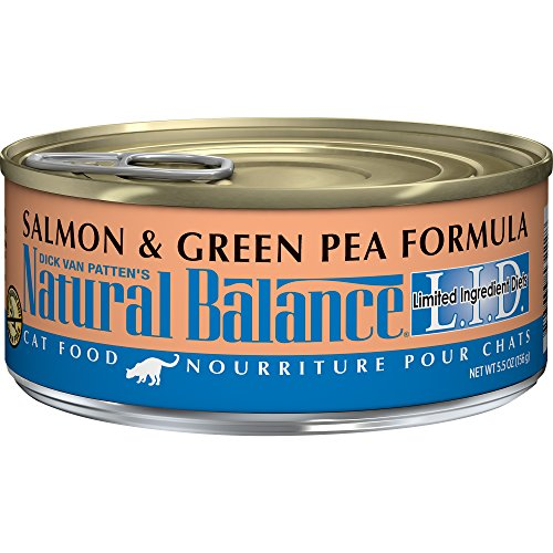 Natural Balance L.I.D. Limited Ingredient Diets Canned Wet Cat Food, Grain Free, Salmon & Green Pea Formula, 5.5-Ounce Can (Pack Of ()