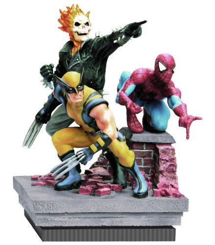(Marvel Heroes - Deluxe Paperweight - Spider-Man, Ghost Rider, Wolverine (8