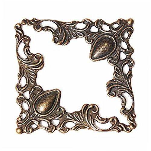 Yosoo 40Pcs Antique Brass Jewelry Trinket Box Chest Gift ...