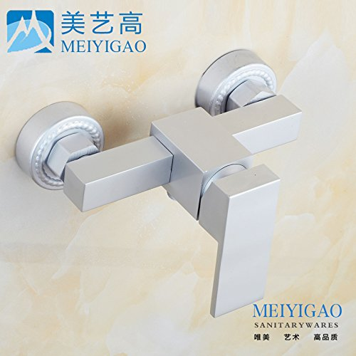 Furesnts Modern home kitchen and Bathroom Sink Taps Space Aluminum Bath Taps hot and cold Bathroom Sink Taps,(Standard G 1/2 universal hose ports)