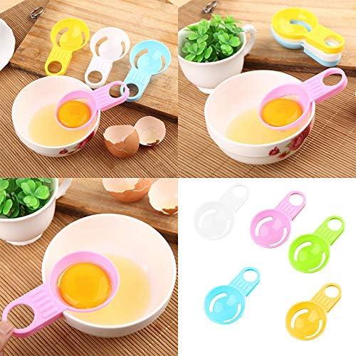 5 Stück Eiweiß Separator Küche Eiweiß Eigelb Filter, Mini Kunststoff Eiweiß Separator Küchengerät (zufällige Farben)