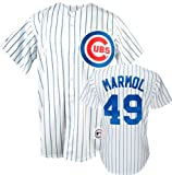 Carlos Marmol White Majestic MLB Home Royal Replica Chicago Cubs Jersey