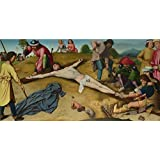 Canvas Prints Of Oil Painting ' Gerard David - Christ Nailed To The Cross,about 1481 ' , 12 x 24 inch / 30 x 60 cm , Polyster Canvas Is For Gifts And Bath Room, Dining Room And Game Room Decoration
