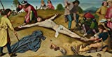 Oil Painting 'Gerard David - Christ Nailed To The Cross,about 1481', 12 x 24 inch / 30 x 60 cm , on High Definition HD canvas prints is for Gifts And Bath Room, Dining Room And Game Room Decoration
