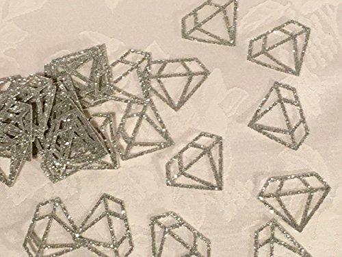 100 Glitter Diamond Shaped Confetti Table Decor, MANY COLORS AVAILABLE